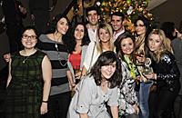 Alumnos del CEF celebrando por adelantado la Nochevieja 2011