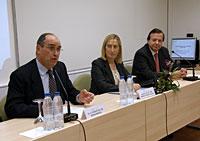 D. Roque de las Heras, Dª. Ana María PAstor y D. Javier Cabo