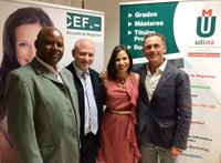 Richard Mababu, Alfonso Merino, Elena María Palacio y  Jacobo Parages