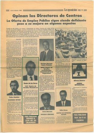 1988 - La Oposición - 40 Aniversario CEF