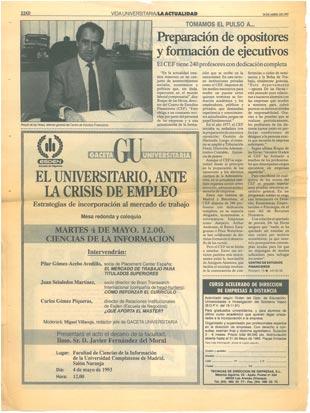 1993 - Vida Universitaria - 40 Aniversario CEF