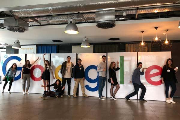 Alumnos del Master de Marketing Digital y Social Media del CEF.- en las oficinas centrales de Google EMEA en Dublín