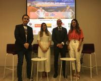 Lorena Cervantes, Joaquín Danvila y Paloma Díaz, posan en el Legal Future Day 2019.