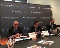 De izquierda a derecha, José Miguel Rodríguez-Pardo, Enrique Sanz Fernández-Lomana y Fernando Ariza.
