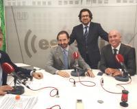 Jaume Segalés entrevista en esRadio a Arturo de las Heras,<br /> acompañado por Joaquín Danvila y Luis Miguel Belda (Redacción: CEF.- Media)