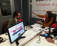 Arturo de las Heras y Marta Docampo, durante la entrevista.
