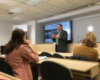 Eugenio Lanzadera, secretario general de UDIMA, durante su charla en CEF.-. este jueves.