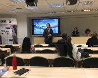 Arturo de las Heras, presidente del Grupo CEF.-UDIMA, durante la sesión sobre Industria 4.0.| (Redacción: Alberto Orellana)