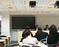 Paloma Villarreal y Fernando Rodríguez, Doctores en Derecho de la UDIMA, este lunes en el CEF.- (Redacción: Alberto Orellana/Marta Peiro)