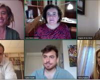 Imagen de los participantes en el debate por videoconferencia del Legal Millennials.