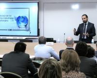 Jesús Canales, este miércoles en la sede del Grupo CEF.- UDIMA en Madrid.