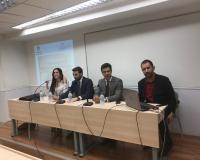 Los representantes de la Agrupación de Jóvenes Abogados de Madrid,<br  />durante su intervención (Redacción: Luis Miguel Belda)