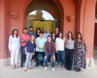 La doctora Pérez Fructuoso, en el centro de la imagen, junto a los trabajadores de Mapfre