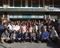 Alumnos de República Dominicana en la sede en Madrid del Grupo CEF.- UDIMA