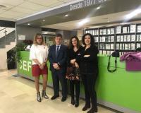 Miembros de la Comisión de Igualdad del CEF.-, de izquierda a derecha: María del Carmen García (Secretaria de la Comisión), Pedro González, María Goretti Piñeiro y Carmen Baquero