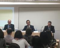 En la imagen, de izquierda a derecha, Roque de las Heras, J.M. Pérez Iglesias y Juan Noblejas (Redacción y fotografía: María Guijarro)