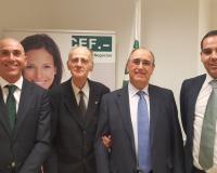 De izquierda a derecha, Joaquín Danvila, Eduardo Sanz, Roque de las Heras y Antonio Cuevas