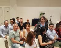 Estudiantes del CEF.- UDIMA, con el profesor Diego Olmedilla (Redacción y fotografías: Luis Miguel Belda)