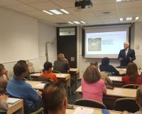 Carlos Molina, durante su ponencia en el CEF.- (Redacción y fotografías: Luis Miguel Belda)