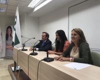 De izquierda a derecha de la imagen, Jesús Martínez, Marta Borque y Ángela de las Heras (Redacción: J.D./L.M.B.)