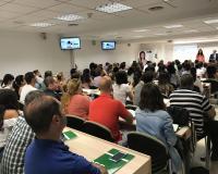 Sala de eventos en el CEF.- (Redacción: J.D./L.M.B.)